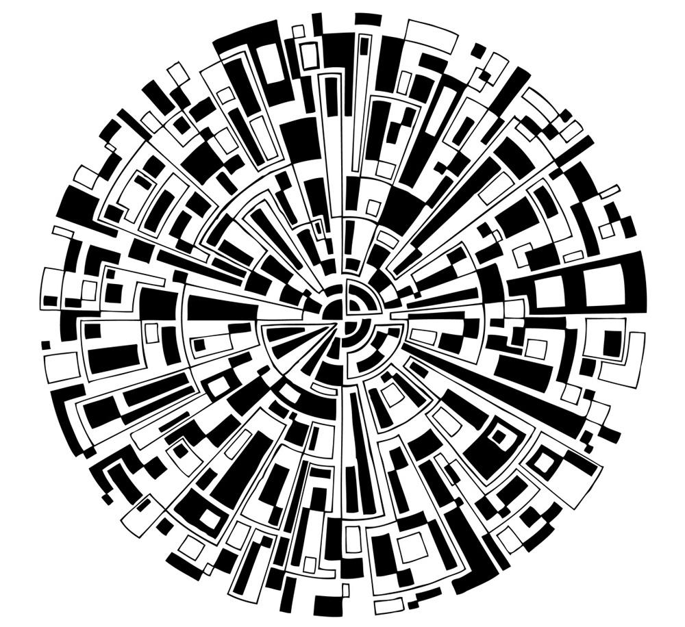 幾何学的な円模様 | PENDE KROIE